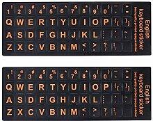 2 Packungen englische Tastatur-Aufkleber mit