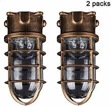 2 Packungen Schiffsleuchten Gitter Lampe,