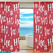 2PC jstel HoHoHo Santa Weihnachten Muster Print