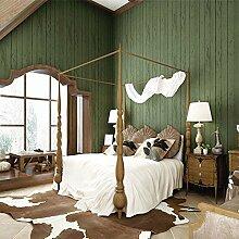 2PCS 33ft/10Mio. Holz Optik täfelungen Holz Plank Holz Panel Effekt 3D texturierte dunkelgrün blau grau Tapete, dunkelgrün, 2pcs