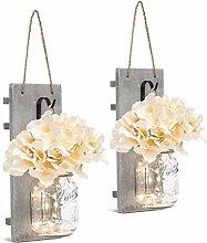 2 PCS Einmachglas Lampions, Lichterkette im