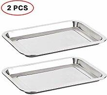 2 PCS Multi Size Baguette-backblech Edelstahl