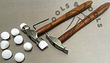 2PCS Nylon Tipps texturierend Hammer entwerfen bilden Metall silber Smith repoussee