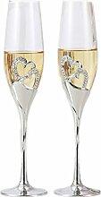 2PCS/set hight-end Weinglas Hochzeit Supplies