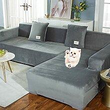 2 PCS Stretch Sofabezug L Form für Ecksofa mit 2