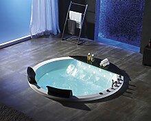 2 Personen Whirlpool 155x155 Austin Badewanne Whirlwanne Wasserfall Marmor