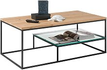 2 Platten Wohnzimmer Tisch aus Eiche Massivholz