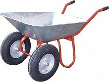 2-Rad-Gartenkarre (Verzinkte Mulde, mit Drahteinlage * Luftbereift * 400 x 100 mm * Lackiertes Sta)