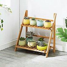 2 Reihen Faltbare Bambus Blume/Pflanzen
