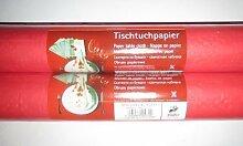 2 Rollen 1mx10m Papier Tischdecke Tischtuch Rot Geburtstag Dekoration