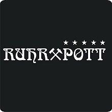 2 Ruhrpott-Aufkleber zur Dekoration von Wänden, Glasprodukten, Fliesen und allen anderen glatten Oberflächen