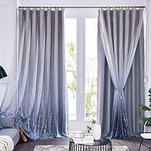 2 Schichten Fenstervorhang Verdunkelungsvorhang