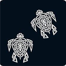 2 Schildkröten-Aufkleber zur Dekoration von Wänden, Glasprodukten, Fliesen und allen anderen glatten Oberflächen