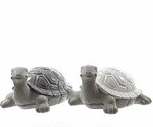 2 Schildkröten Gartendeko Gartentiere Tiere