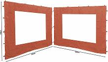 2 Seitenteile 250x190cm zu Gartenpavillon Antik