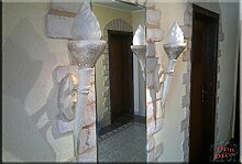 2 Set - Ägyptische Fackel Lampe Wandlampe Wandfackel Wandleuchte Leuchte Kunstharz