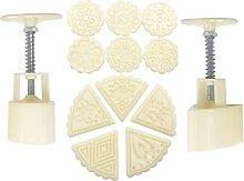 2 Sets Mooncake Form Presse 50 g mit 11 Stempeln,