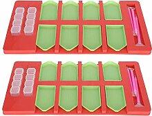 2 Sets Tablett Organizer, Malerei Werkzeuge Kits