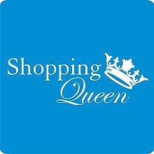 2 Shopping- Queen-Aufkleber zur Dekoration von Wänden, Glasprodukten, Fliesen und allen anderen glatten Oberflächen
