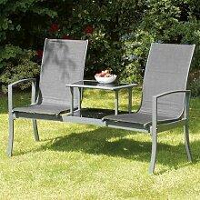 2-Sitzer Gartenbank Isanti aus Metall Garten Living