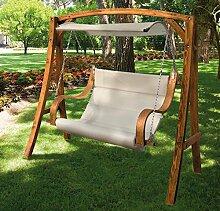 2-Sitzer-Gartenschaukel aus Lärchenholz Modell