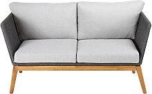 2-Sitzer-Gartensofa aus Schnurgeflecht,