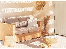 2-Sitzer-Gartensofa aus synthetischem Rattan Jeven