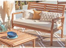 2-Sitzer-Gartensofa aus Teakholz Adira Teakholz
