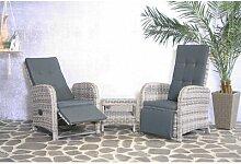 2-Sitzer Lounge-Set Atlow aus Rattan