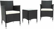 2-Sitzer Lounge-Set Galal aus Polyrattan