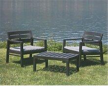 2-Sitzer Loungemöbel-Set Diedrick