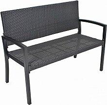 2-Sitzer Parkbank SAN REMO Alu Kunststoffgeflecht
