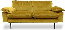 2-Sitzer-Retro-Sofa Vez ockerfarben