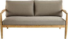 2-Sitzer-Sofa aus massivem Akazienholz Indiana