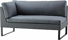 2-Sitzer Sofa Flex Cane-line grau, Designer