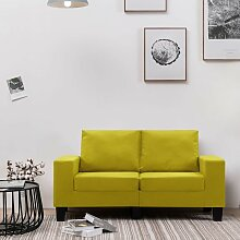 2-Sitzer-Sofa Gelb Stoff 37166 - Topdeal