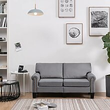 2-Sitzer-Sofa Hellgrau Stoff 37199 - Topdeal
