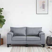 2-Sitzer-Sofa Hellgrau Stoff2040-A