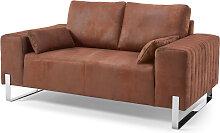 2-Sitzer Sofa Lambi, braun
