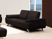2-Sitzer-Sofa Microfaser Polka - Braun