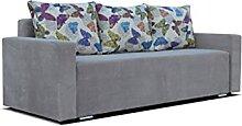 2-Sitzer Sofa mit Bettfunktion und Bettkasten -