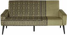 2-Sitzer-Sofa mit kakifarbenem Samtbezug Enzo