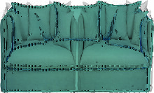 2-Sitzer-Sofa mit seladonblauem