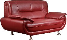 2-Sitzer-Sofa Nigel - Rot