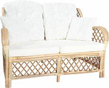 2-Sitzer-Sofa Rattan