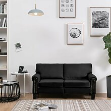 2-Sitzer-Sofa Schwarz Stoff 37205 - Topdeal