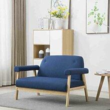 2-Sitzer-Sofa Stoff Blau 12575 - Topdeal