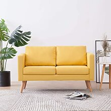2-Sitzer-Sofa Stoff Gelb 22960 - Topdeal