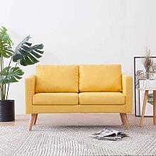 2-Sitzer-Sofa Stoff Gelb - Youthup