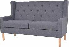 2-Sitzer-Sofa Stoff Grau - Youthup